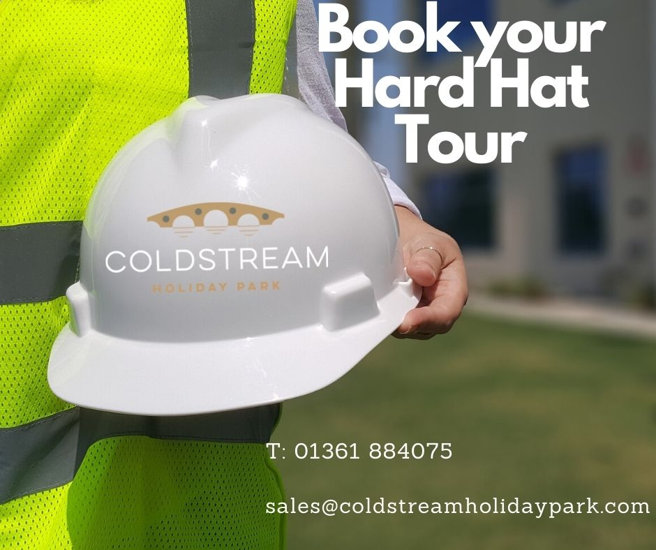 Coldstream holiday park news - Hard hats and showing off!