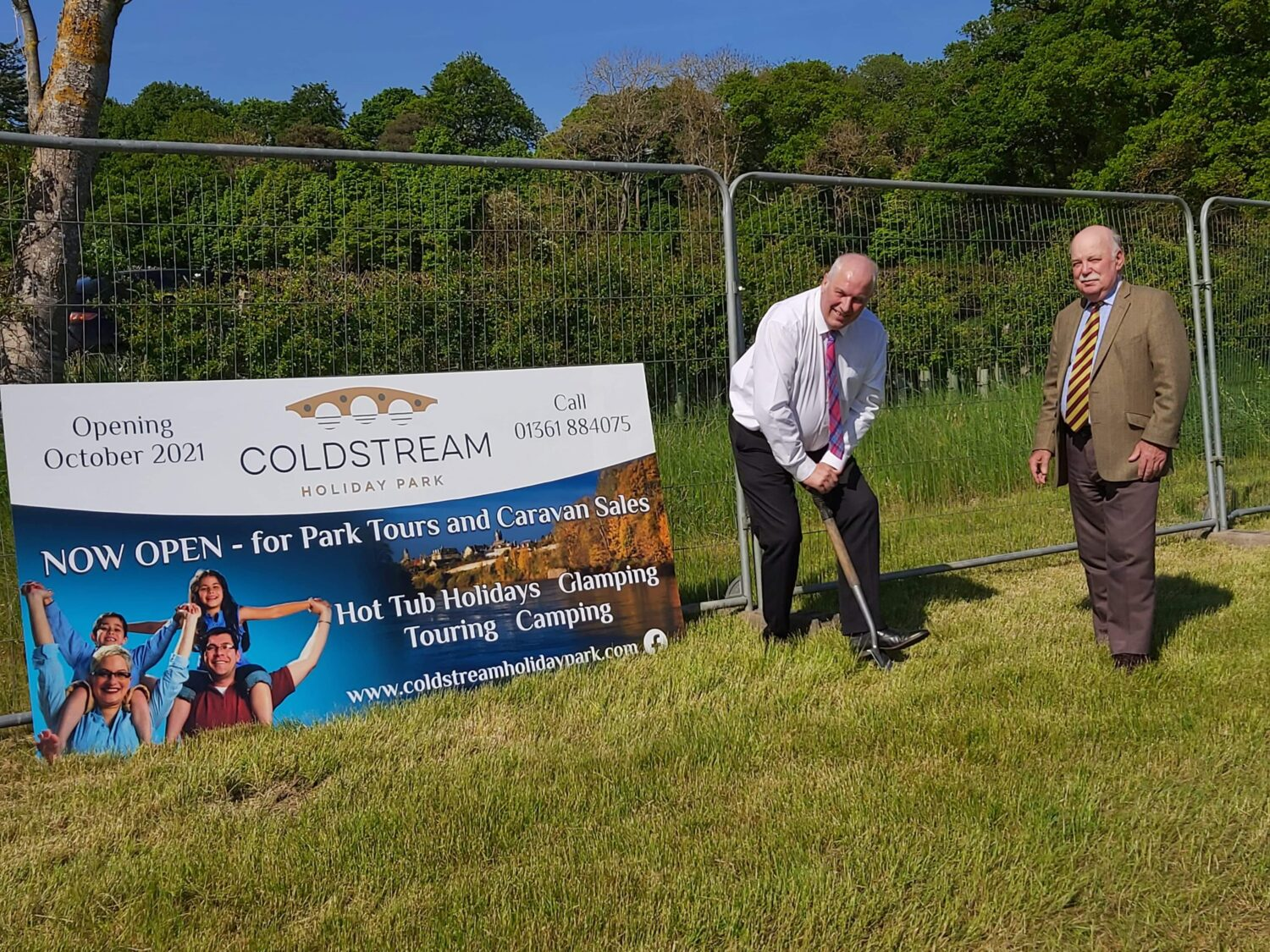 Coldstream holiday park news - Cutting the Turf